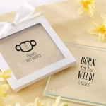 Personalized Born to be Wild Baby Shower Coasters