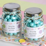 Cute as a Button Personalized Mini Mason Jars (Set of 12)