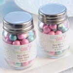 Gender Reveal Personalized Mini Mason Jar Favors (Set of 12)