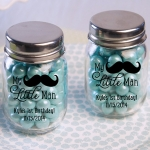 Personalized Little Man Printed Mini Mason Jar (Set of 12)