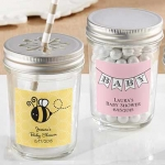 Personalized Mason Jar Baby Shower Favors (Set of 12)