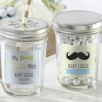 Personalized My Little Man Glass Mason Jars (Set of 12)