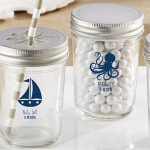 Personalized Nautical Baby Shower Printed Mason Jars