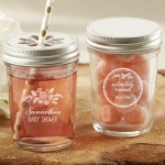 Personalized Rustic Baby Shower Printed Mason Jars