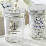 Personalized Religious Theme Mason Jar Party Favors
