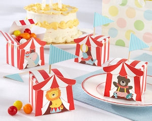 Big Top Circus Favor Boxes (Set of 24 Assorted) imagerjs