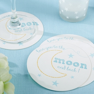 To the Moon & Back Paper Baby Shower Coasters (20 Count) imagerjs