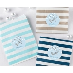 Striped It's a Boy Paper Favor Bags (Set of 25)