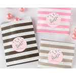 Striped It's a Girl Paper Favor Bags (Set of 25)