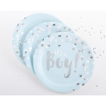 Foil It's a Boy Paper Plates (Set of 8)