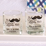 Personalized 'My Little Man' Printed Shot Glass/Votives
