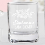 Personalized Rustic Baby Shower Shot Glass/Votive Holder