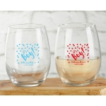 Personalized 9 oz It's a Boy Stemless Wine Glass