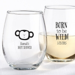 Personalized Born to be Wild Stemless Glass Shower Favors