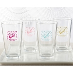Personalized It's a Girl Pint Glass