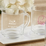 Rise and Shine Glass Coffee Mug Baby Shower Favors