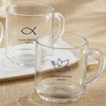 Rise & Shine Glass Coffee Mug Religious Theme Party Favors