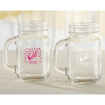 Personalized It's a Girl 16 oz Mason Jar Mug