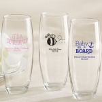 Personalized Stemless Champagne Glass Baby Shower Favors