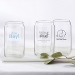 Personalized Baby Shower Can Glass Favors
