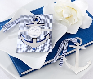 Nautical Anchor Baby Shower Bookmark Favors imagerjs