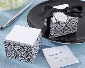 Damask Design Notepad Baby Shower Favors imagerjs
