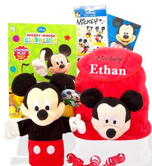 Disney Mickey Mouse Backpack Gift Set imagerjs