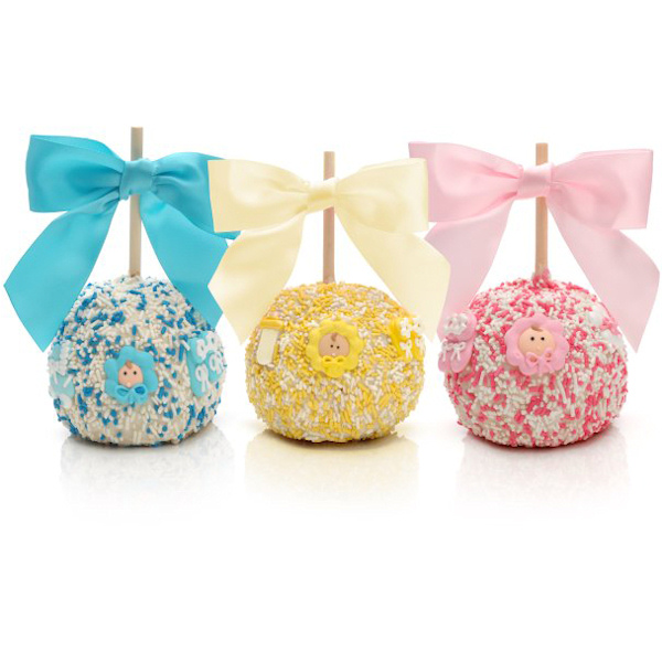 New Baby Chocolate Covered Apple Favors Aa Gifts Amp Baskets