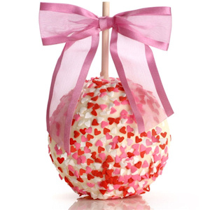 Heart Sprinkled Chocolate Caramel Apple imagerjs