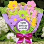 Birthday Flowers & Butterflies Cookie Bouquet