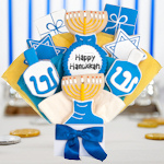 Happy Hanukkah Gourmet Cookie Bouquet