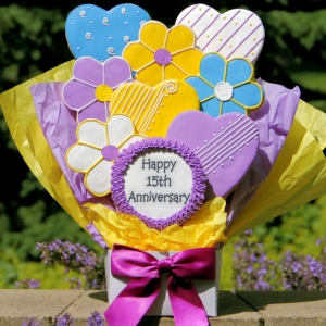 Cookie Bouquet - Anniversary Hearts & Flowers imagerjs