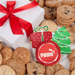 Corporate Christmas Gourmet Logo Cookie Gift Box imagerjs