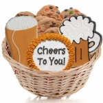 Cookie Gift Basket - Beer Mugs