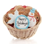 Winter Holiday Cookie Basket