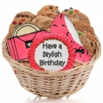 Stylish Birthday Cookie Basket