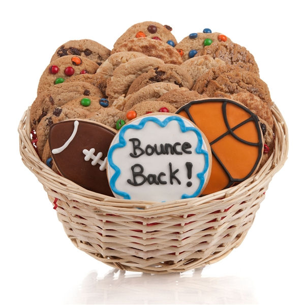 Bounce back soon cookie gift basket aa gifts baskets