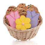 Tulips & Daisy Cookie Gift Basket