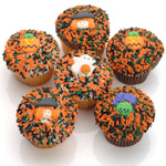 Halloween Design Belgian Chocolate Cupcakes (6 Pack)