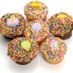 Birthday Belgian Chocolate Gourmet Cupcakes (6 Pack)