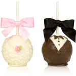 Chocolate Bride & Groom Apple Pair