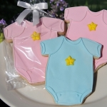 Baby One Piece Romper Cookie Favors (2 Colors)