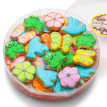 Spring Design Mini Sugar Shortbread Cookies