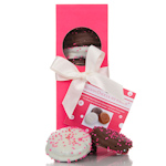 Chocolate Covered Oreo Elegant Fushia Gift Box
