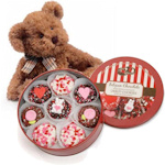 Chocolate Valentine Oreos Tin & Teddy Bear