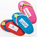Iced Logo Flip Flop Sugar Cookie