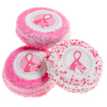 Pink Ribbon Chocolate Dipped Oreo Cookie Favors