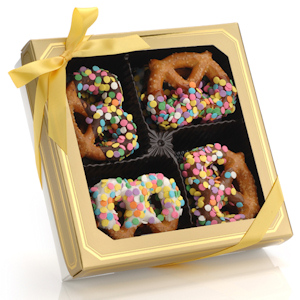 Confetti Chocolate Pretzel Twists - Box of 12 imagerjs