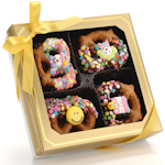 Happy Birthday Chocolate Pretzel Twists - Box of 12
