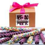Spring Belgian Chocolate Pretzel Wands Gift Box